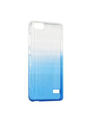 Крышка задняя для Huawei 4C Силикон IQ Format. Цвет: синий