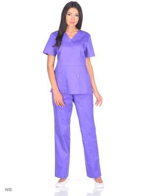 Брюки медицинские Med Fashion Lab. Цвет: темно-фиолетовый