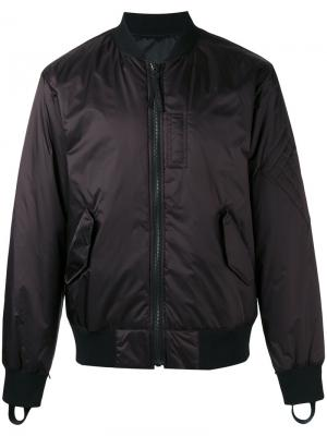 Двусторонняя куртка бомбер Helmut Lang. Цвет: красный