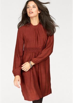 Платье Aniston. Цвет: оранжево-коричневый
