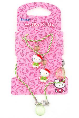 Набор бижутерии Hello Kitty. Цвет: зеленый