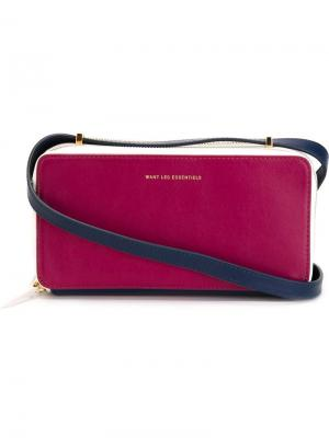 Сумка на плечо Demiranda Want Les Essentiels De La Vie. Цвет: розовый и фиолетовый