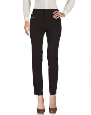 Повседневные брюки L.P. di L. PUCCI. Цвет: темно-коричневый