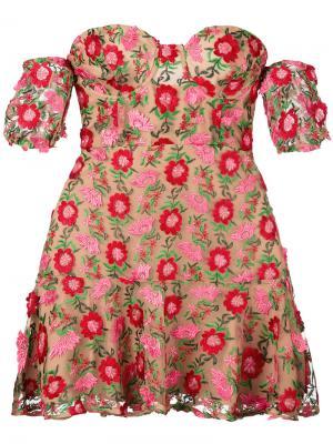 Платье Amelia For Love And Lemons. Цвет: телесный
