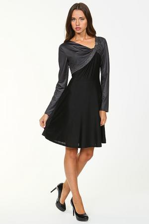 Платье Roccobarocco. Цвет: чёрный, тёмно-серый