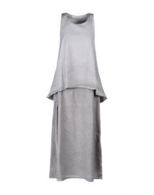 Платье длиной 3/4 UN-NAMABLE. Цвет: светло-серый