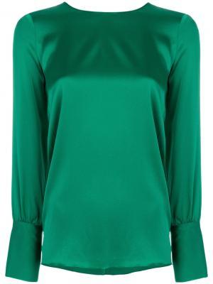 Однотонная блузка Jucca. Цвет: зелёный