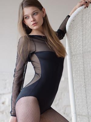 Блузка- боди OPIUM. Цвет: черный