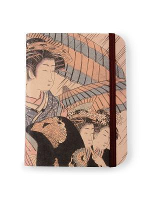 Флорентийская записная книжка. Мицухана из чайного дома Омисуя Власта. Цвет: бежевый, голубой, черный