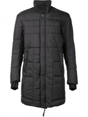Удлиненная стеганая куртка 11 By Boris Bidjan Saberi. Цвет: серый