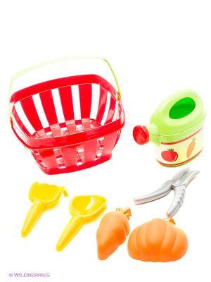 Набор для огорода в корзине, 23,5*23*11,5 см, 1/10 Ecoiffier. Цвет: красный, оранжевый, салатовый