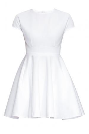 Платье из вискозы и искусственного шелка 164345 Anna Dubovitskaya. Цвет: белый