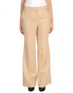 Повседневные брюки PURIFICACION GARCIA. Цвет: бежевый