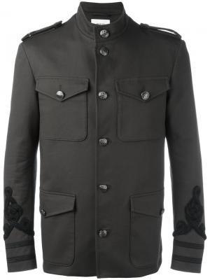 Куртка с вышивкой в стиле милитари Ports 1961. Цвет: зелёный
