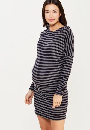 Платье MammySize. Цвет: серый