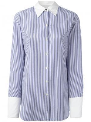 Рубашка в полоску Rag & Bone. Цвет: синий