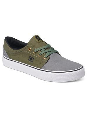 Кеды DC Shoes. Цвет: серый, зеленый, черный