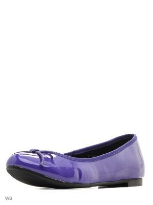 Балетки Carla Verotti. Цвет: фиолетовый, антрацитовый