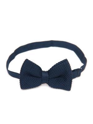 Галстук-бабочка Churchill accessories. Цвет: темно-синий, синий