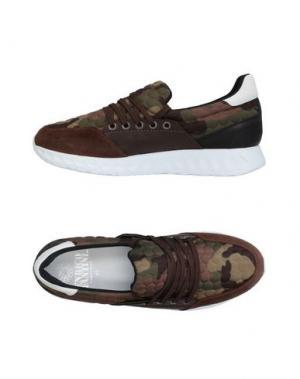 Низкие кеды и кроссовки ENRICO FANTINI. Цвет: темно-коричневый
