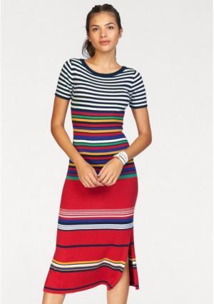 Платье AJC. Цвет: синий/белый/красный с рисунком