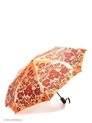 Зонт RAINDROPS. Цвет: оранжевый, белый