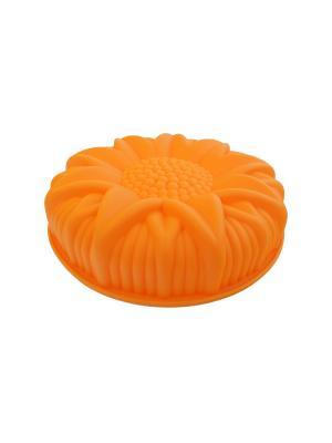 Форма для выпечки подсолнух, силикон Peterhof. Цвет: оранжевый
