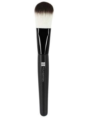 Кисть для основы макияжа из мягких синтетических волокон 10-1095 QVS. Цвет: черный, белый
