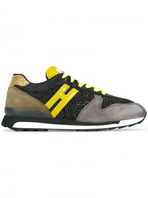 Кроссовки с панельным дизайном Hogan Rebel. Цвет: многоцветный