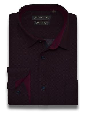 Рубашка Imperator. Цвет: темно-бордовый, темно-красный