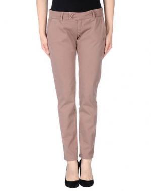 Повседневные брюки DUCK FARM. Цвет: голубиный серый