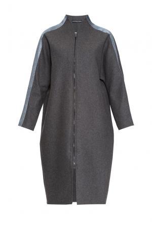 Пальто из шерсти 161175 Anna Dubovitskaya. Цвет: серый