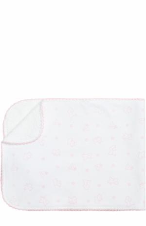 Хлопковая пеленка с принтом Kissy. Цвет: розовый