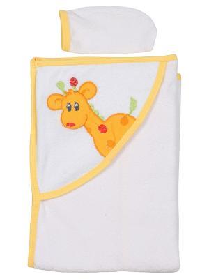 Уголок для купания малыша M-BABY. Цвет: белый, желтый