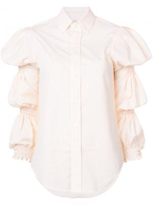 Рубашка с широкими рукавами Petersyn. Цвет: белый
