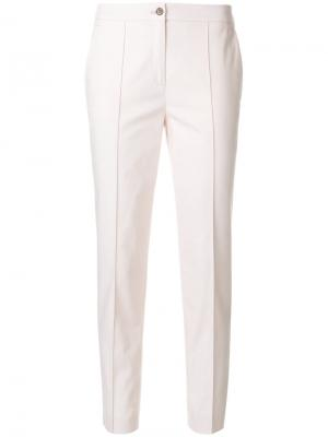 Укороченные брюки строгого кроя Jil Sander Navy. Цвет: розовый и фиолетовый