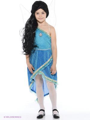Карнавальный костюм Фея Серебрянка Батик. Цвет: голубой