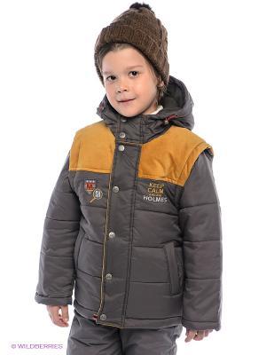 Куртка Bell bimbo. Цвет: темно-серый