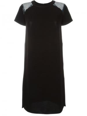 Перфорированное платье Stills. Цвет: чёрный