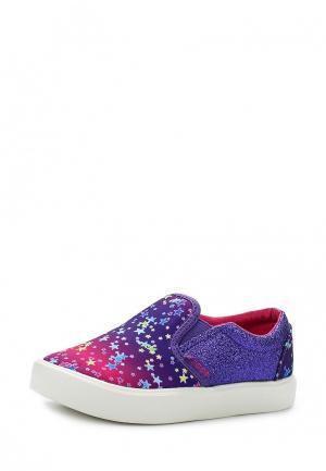 Слипоны Crocs. Цвет: фиолетовый