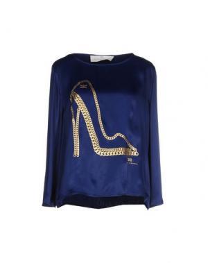 Блузка ELISABETTA FRANCHI JEANS. Цвет: синий