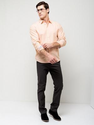 Рубашка SELA. Цвет: светло-оранжевый