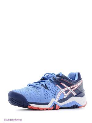 Теннисные кроссовки GEL-RESOLUTION 6 ASICS. Цвет: синий, розовый, белый