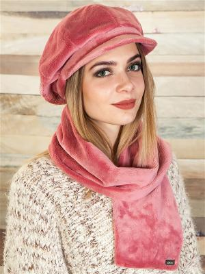 Кепка, с шарфом LORICCI. Цвет: розовый