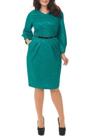 Платье Amelia lux. Цвет: зеленый