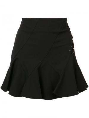 Мини юбка со шнуровкой Derek Lam 10 Crosby. Цвет: чёрный