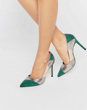 Dune Замшевые туфли-лодочки в стиле пэчворк Azzra. Цвет: мульти