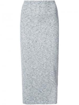 Knitted pencil skirt Victoria Beckham. Цвет: синий