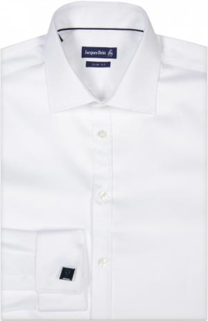 Сорочка с запонками Jacques Britt. Цвет: белый