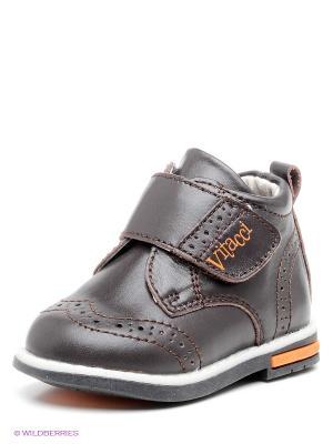 Туфли Vitacci. Цвет: темно-коричневый